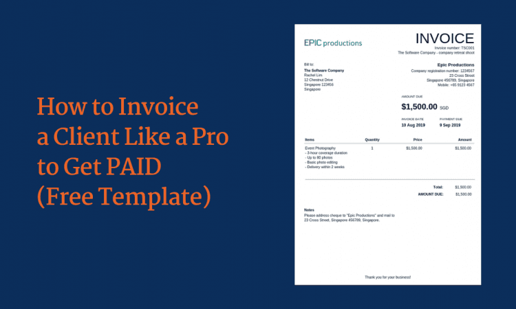How To Invoice A Client Like A Pro To Get Paid Free Template Lancerx
